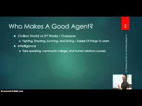 Who Makes A Good Agent   Online Bodyguard Training Cert 5-20-15