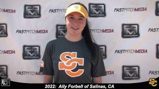 2022 Ally Forbell Pitcher and Outfield Softball Skills Video - Ca Suncats
