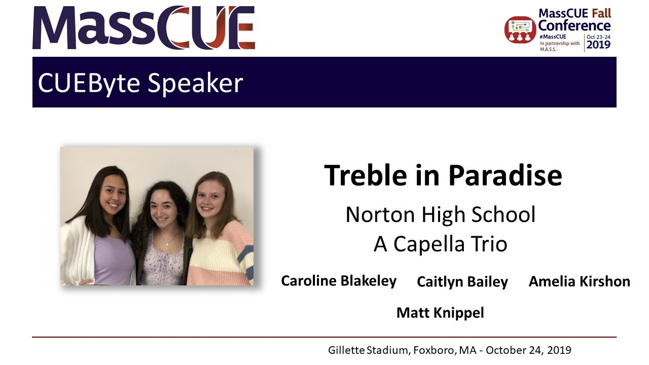 2019 Fall Conference CUEByte Treble In Paradise