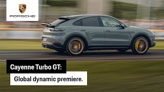 Global dynamic premiere of the new Cayenne Turbo GT