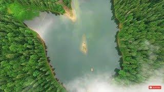Озеро Синевир с высоты птичьего полета! Кадры с дрона самого большого озера в Карпатах, Украина.