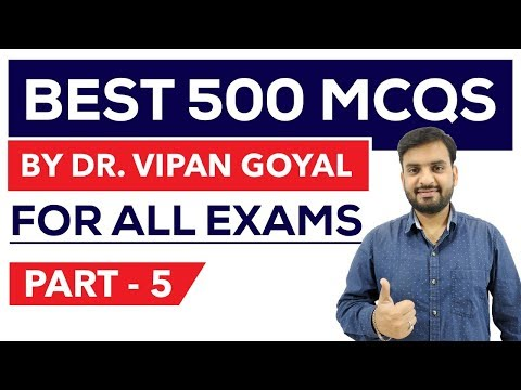 Best 500 GK Questions Part 5 - Finest MCQ for all exams by Dr Vipan Goyal I Study IQ