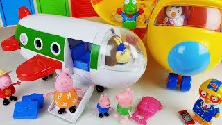 Baby doll Peppa Pig Airplane toys Playground play - ToyMong TV 토이몽