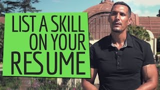 When Should I List A Skill On My Resume?