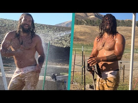 Shirtless Jason Momoa Flaunts His Bod In Steamy Pics