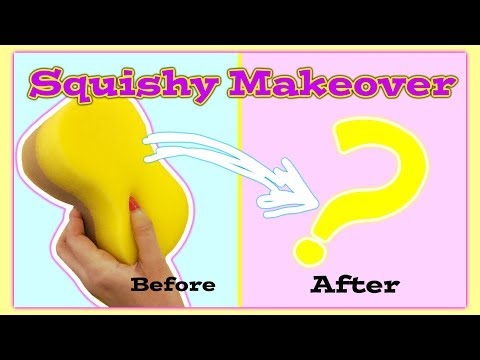 SQUISHY MAKEOVER:Turning a $1 CAR SPONGE into SQUISHY!