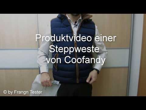 138 - Herren Steppweste (blau) - von Coofandy