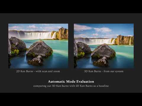 3D Ken Burns Effect from a Single Image - Technical