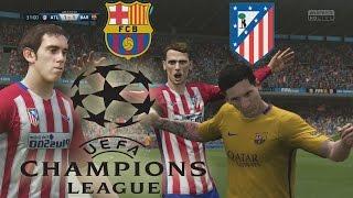 FIFA 16 Gameplay  - Barcelona Vs Atletico de Madrid - Por el paso a la Semifinal de la Champions