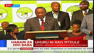 President Uhuru Kenyatta urges Kenyans to remain peaceful and resilient in the law