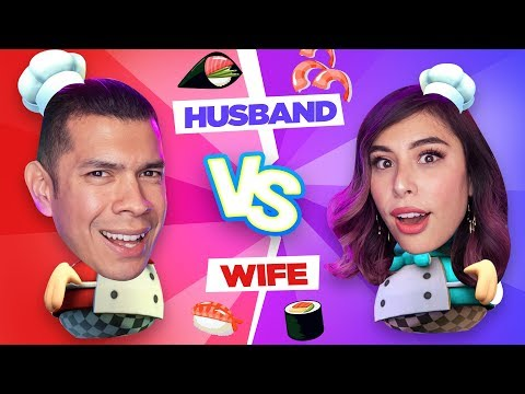 Husband Challenges Wife in Cooking Game!  Overcooked 2!