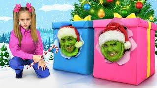 Sasha y Max se están preparando para la Navidad, pero Grinch les impide hacerlo