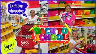"LAST DAY SHOPPING SCHOOL SUPPLIES AT TARGET ""ALISSON"""