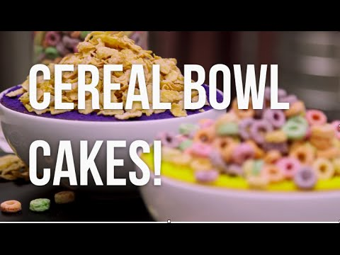 How To Make CEREAL BOWL CAKES! Vibrantly coloured cakes