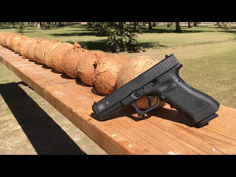 How many coconuts do you think can stop a fired bullet?