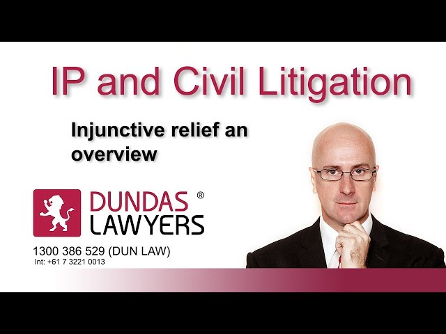 Injunctions an introduction Australia