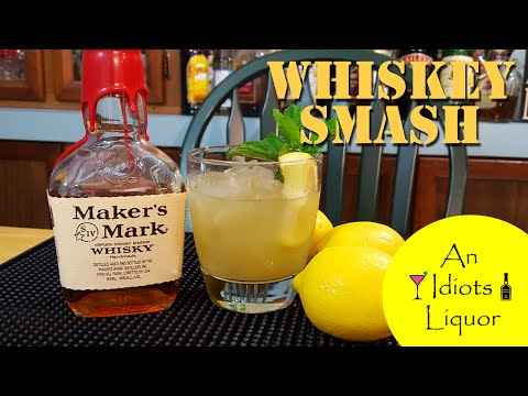 Video Whiskey Smash Cocktail w/ Makers Mark - The Dale Degroff Style Recipe