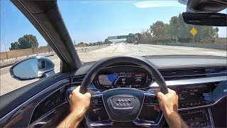 2020 Audi S8 L Twin-Turbo V8 POV Test Drive (3D Audio)(ASMR) by MilesPerHr