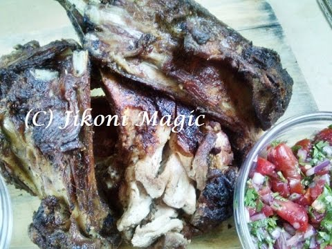 Kenyan Mbuzi choma Barbecued Goat – Nyama Choma jikoni magic