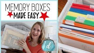 How to organize memorabilia & kids' artwork! ❤️ Memory Box Ideas