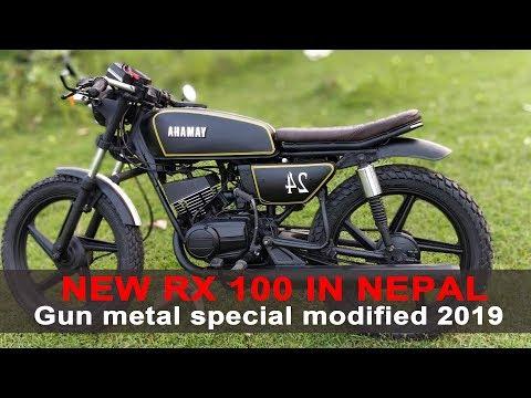 New Yamaha rx100 grey colour rx100 modified   - смотреть