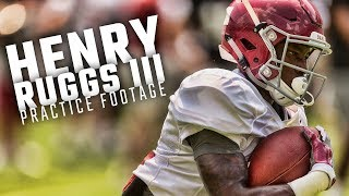 Watch Henry Ruggs III and the Alabama WRs run drills during fall camp 2017