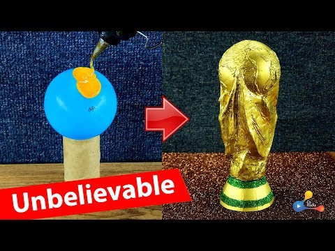 DIY World Cup Trophy from recycled toilet paper roll, unbelievable! | #drhacks