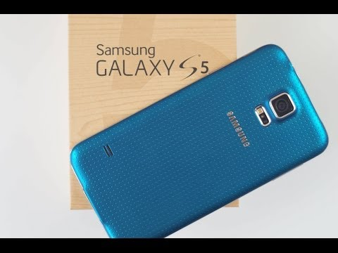 BLUE Samsung Galaxy S5 UNBOXING and Review