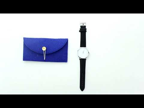 Unboxing XLORDX Classic Damen-Armbanduhr Analog Quarz Grau Leder Armband