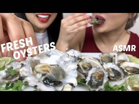 Fresh Oysters | ASMR *No talking Slurping Eating Sounds | N.E Lets Eat & SAS ASMR