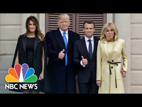 President Donald Trump, First Lady, Welcome France's President Emmanuel Macron | NBC News