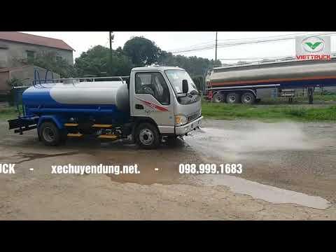 Xe phun nước rửa đường 5 khối JAC