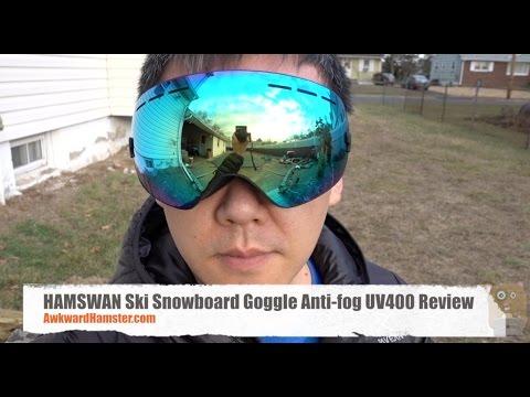 HAMSWAN Ski Snowboard Goggle Anti fog UV400 Review