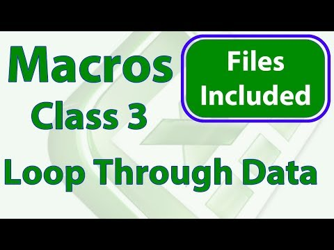 Excel Macro Class 3 - Looping through Ranges & Working with Cells