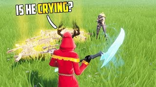 I became FRIENDS with the ENEMY... (he CRIED) in FORTNITE