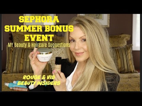Sephora Summer Bonus Event | Beauty & Hair Suggestions | Mature Beauty