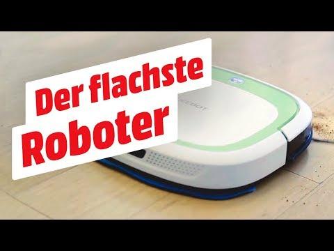 Der flachste Roboter-Staubsauger der Welt! | ECOVACS Deebot DSlim | MediaMarkt Tiefpreisspätschau