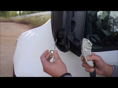 Cambiar luz intermitente del retrovisor