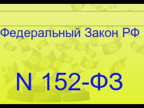 Обработка персональных данных. Закон 152- ФЗ,политика конфиденциальности