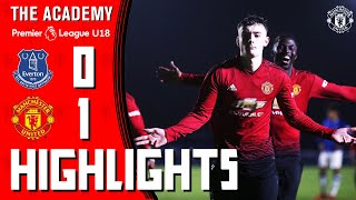 U18 Highlights | Everton 0-1 Manchester United | The Academy