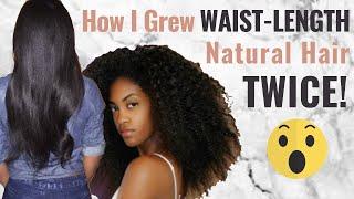How I Grew WAIST-LENGTH NATURAL Hair TWICE As A LAZY NATURAL   HAIR GROWTH JOURNEY