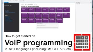 How to get started on VoIP development in .NET languages (including C#, C, C++, VB, etc.)