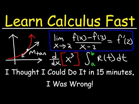 Understand Calculus in 35 Minutes