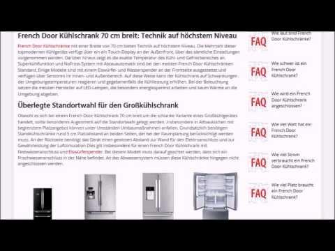 French Door Kühlschrank 70 cm breit | Test, Empfehlung & Ratgeber