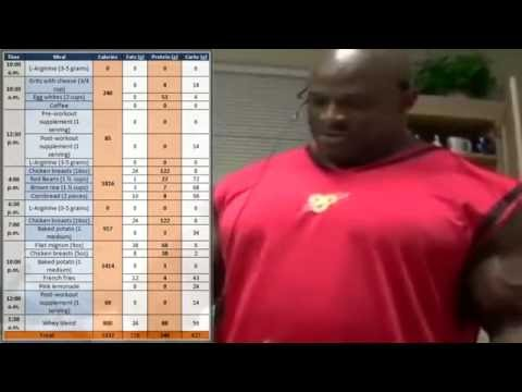 Ronnie Coleman Diet - 5332 calories/546g protein per day