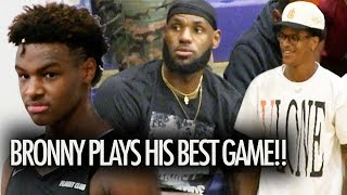 Bronny James WENT OFF!  PLAYS HIS BEST GAME In Front Of LeBron & Shareef O'Neal