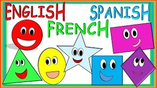 Shapes for Children in ENGLISH, SPANISH AND FRENCH! Figuras para Niños en Inglés, Español y Francés!
