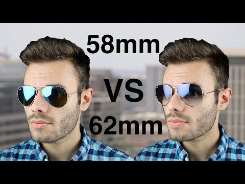Ray-Ban Aviator 58mm vs 62mm Size Comparison