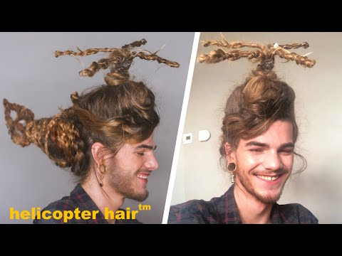 I turned my hair into a helicopter!