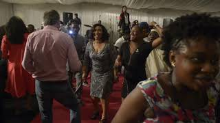 Head of TVC News Nigeria, Babajide Otitoju boogies down at CBS Barbecue Party